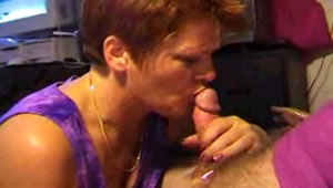Fantastic cock blowing by my mother