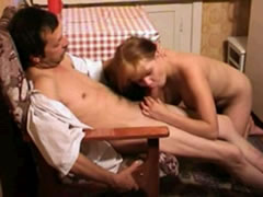 Father fucking his cute daughter in the kitchen 18 years old
