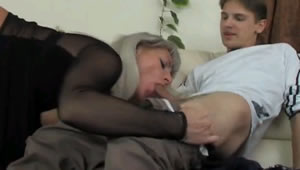 His son spy mother masturbating and helps her get milk