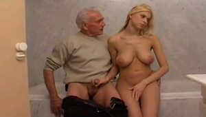 Grandpa is eager to fuck her wing tackles his granddaughter