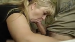 Mother is an expert cock sucking