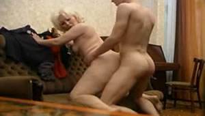Blonde mother fucks her son every time her husband is not