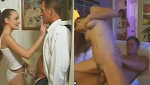 Dad and his gay daughter having sex