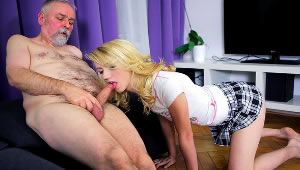 Grandpa let me taste your cock