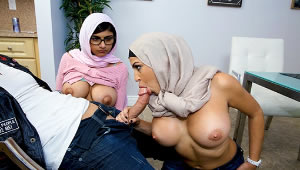 Muslim mother teaches her daughter suck dick