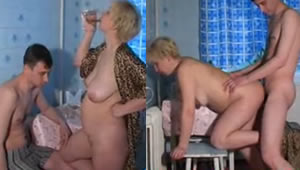 Fucking busty mom and drunk